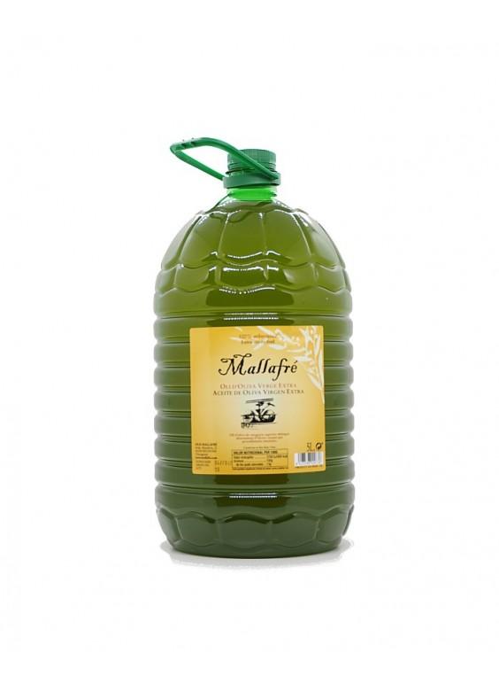Aceite Mallafré Arbequina garrafa 5 litros