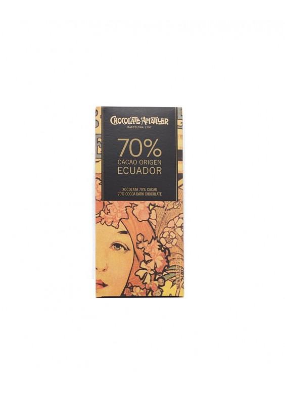 Chocolate Amatller Equador 70% tableta 70grs