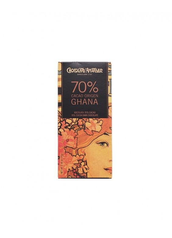 Chocolate Amatller Ghana 70% tableta 70grs