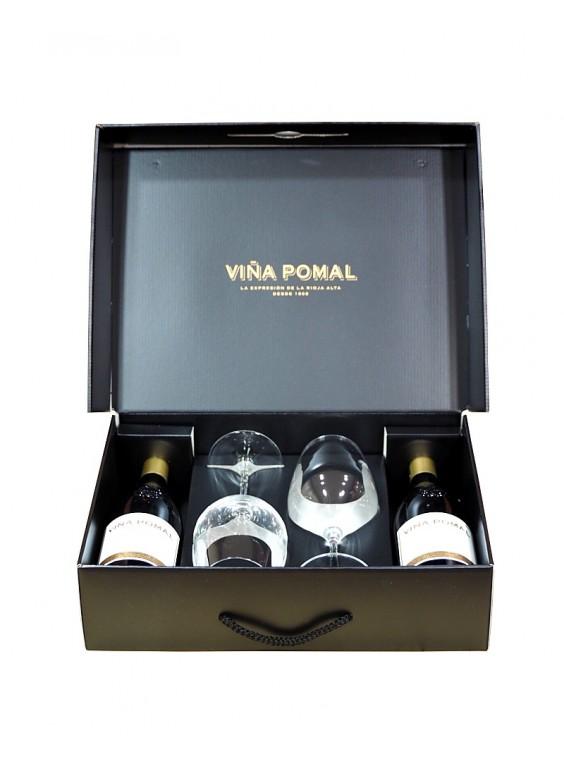 Viña Pomal Reserva Estuche 2 copas 2 botellas